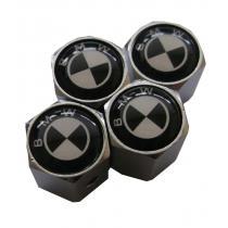 Ozdobné kryty na ventily s logom BMW čierne