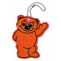 Prívesok reflexný BEAR-MEDVEĎ oranžový Compass