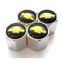 Ozdobné kryty na ventily s logom Chevrolet čierny