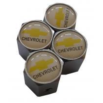 Ozdobné kryty na ventily s logom Chevrolet biely