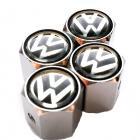 Ozdobné kryty na ventily s logom VW čierne