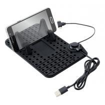 Držiak mobilu s podložkou a káblom Micro USB/iPhone Compass