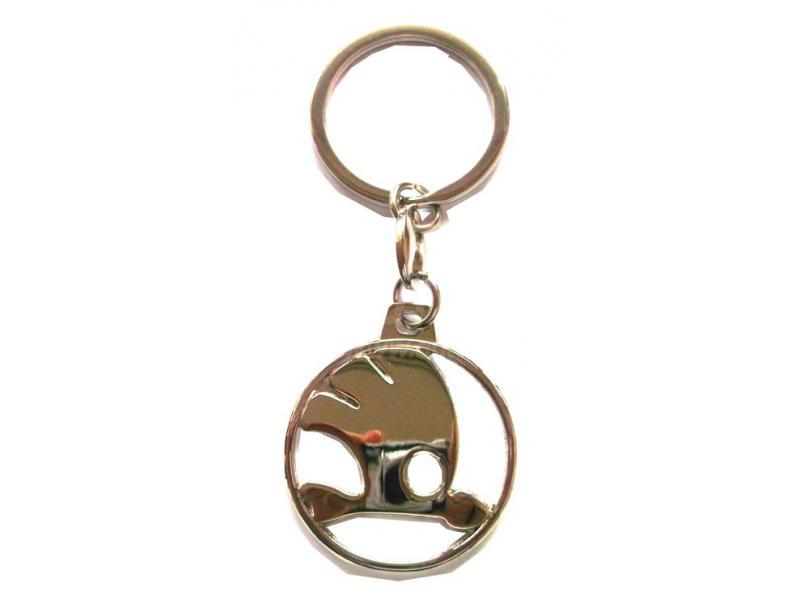 Prívesok na kľúče s logom Škoda chrómový  a3f8726e110