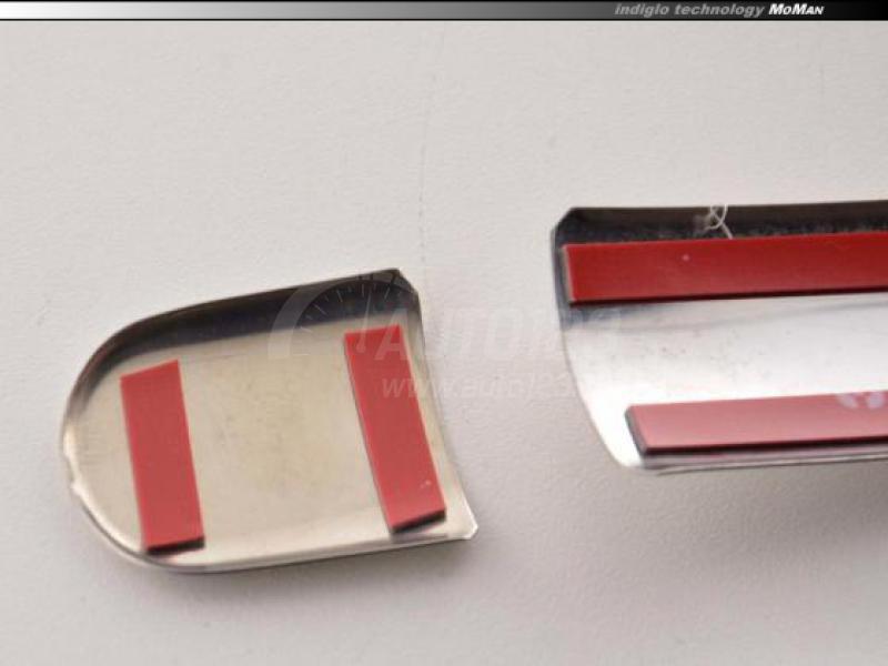 Chrómové kryty kľučiek dierované Škoda Octavia