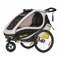 Detský vozík na bicykel Qeridoo Kid Goo 1 žltý (model 2017)-W