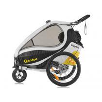 Detský vozík na bicykel Qeridoo Kid Goo 2 žlto-čierny (model 2017)