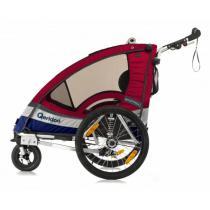 Detský vozík na bicykel Qeridoo Sportrex 1 červený (model 2017)-W