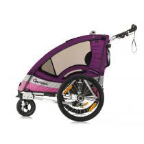 Detský vozík na bicykel Qeridoo Sportrex 1 viollet (model 2017)-W