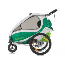 Detský vozík na bicykel Qeridoo Kid Goo 1 zelený (model 2017)