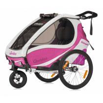Detský vozík na bicykel Qeridoo Kid Goo 1 ružovo-fialový (model 2017)-W