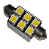Led žiarovka 6xSMD, biela, 5050, Sulfid/ Festoon, Canbus