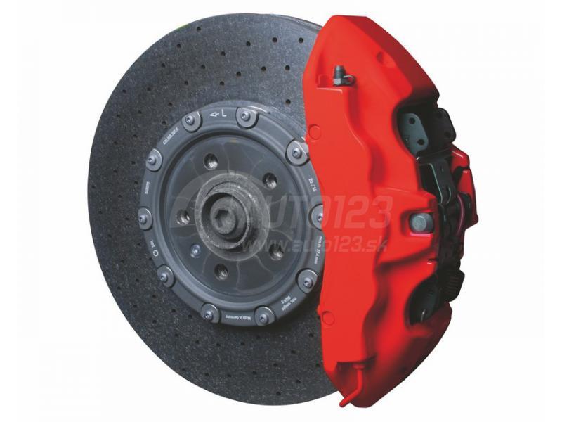 Farba na brzdy a motor Foliatec červená matná sada
