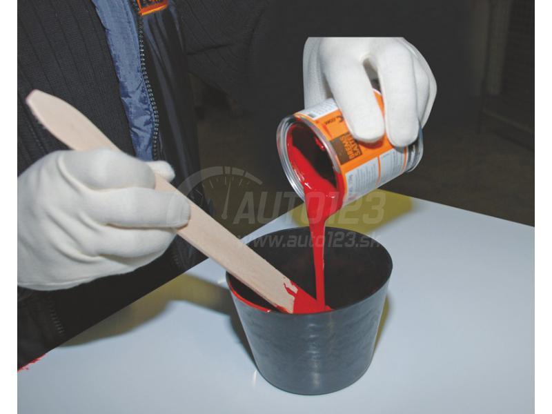 Farba na brzdové strmene Foliatec červená RS