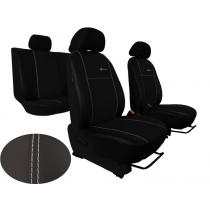 Autopoťahy na mieru Pok-ter Exclusive Leather Look čierne