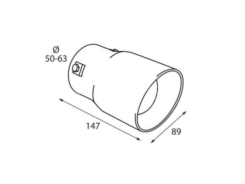 Koncovka výfuku TS-50 Lampa Italy Sport sound
