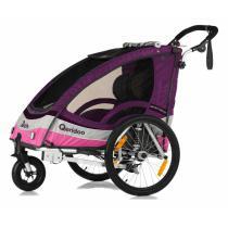 Detský vozík na bicykel Qeridoo Sportrex 2 ružový (model 2017)