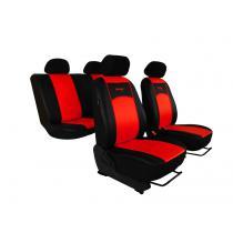 Autopoťahy Pok-ter Leather Look čierno-červené