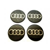 Nálepky na kolesá Audi čierne 5,5cm