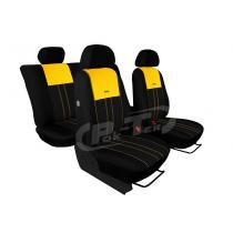 Autopoťahy Pok-ter Duo Luxus čierno-žlté
