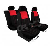 Autopoťahy Pok-ter Duo Luxus čierno-červené