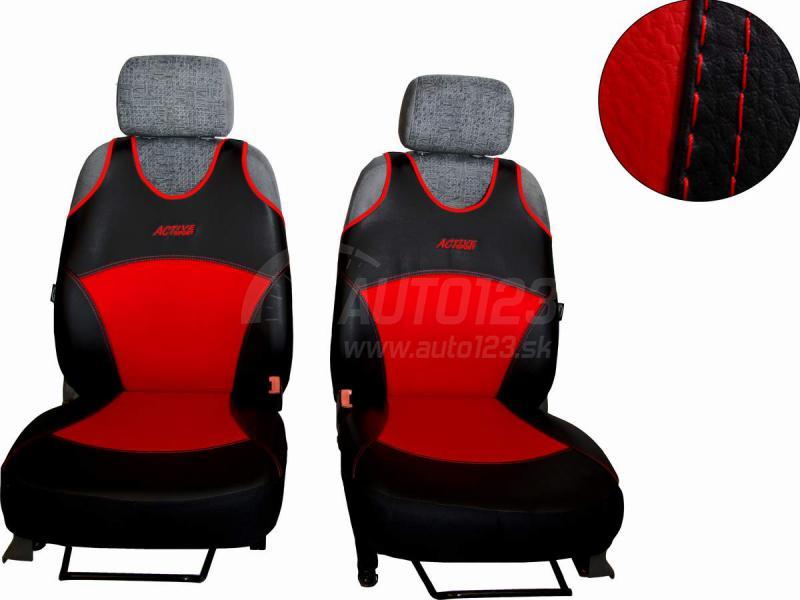 Autotričká Leather look červené Pok-Ter