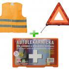 Bezpečnostný set autolekárnička + vesta + trojuholník