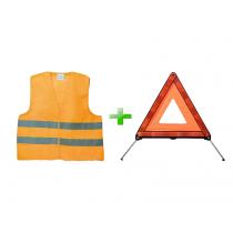 Bezpečnostný set vesta + trojuholník