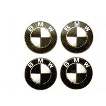 Nálepky na kolesá BMW čierno-biele 5,5cm