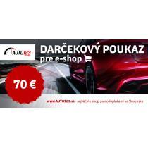 Darčekový poukaz 70€