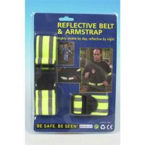 Bezpečnostný pás reflexný 2x All Ride
