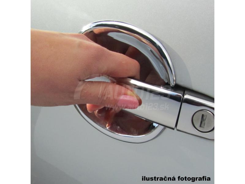 Chrómové kryty kľučiek Škoda Octavia nerez