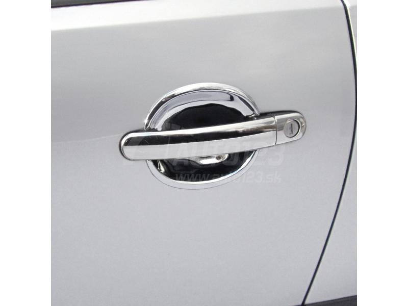Chrómové kryty kľučiek plné Škoda Octavia