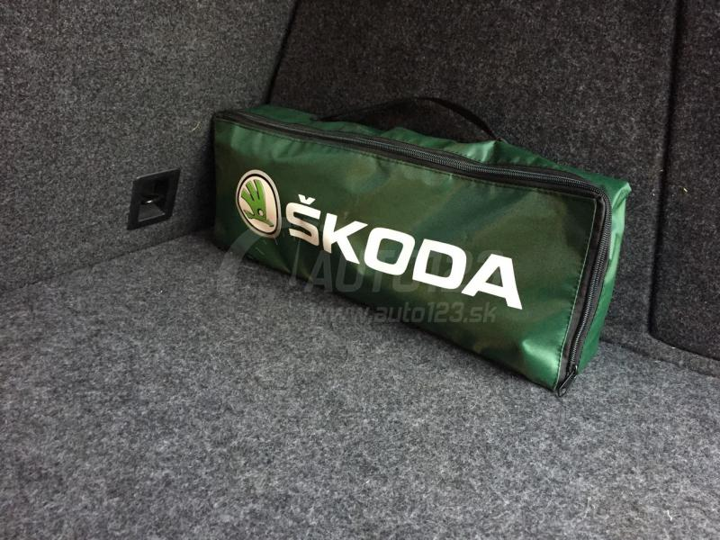Taška povinnej výbavy Škoda zelená nové logo