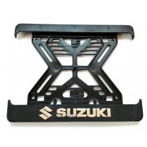 3D Podložka pod špz MOTO Suzuki chrómová
