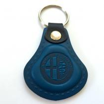 Kožená kľúčenka Alfa Romeo modrá