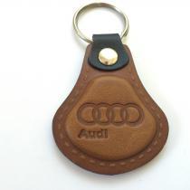 Kožená kľúčenka Audi hnedá
