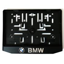 3D Podložka pod špz MOTO BMW chrómová typ 2