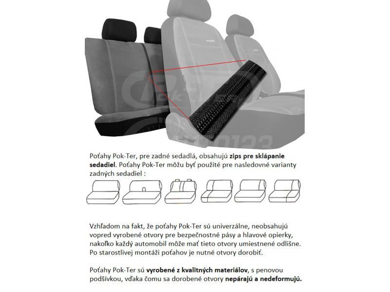 Autopoťahy Pok-ter Exclusive Alcantara - čierne