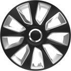 Puklice Stratos RC čierno-strieborné Versaco