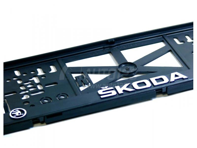3D Podložka pod ŠPZ Škoda 2ks