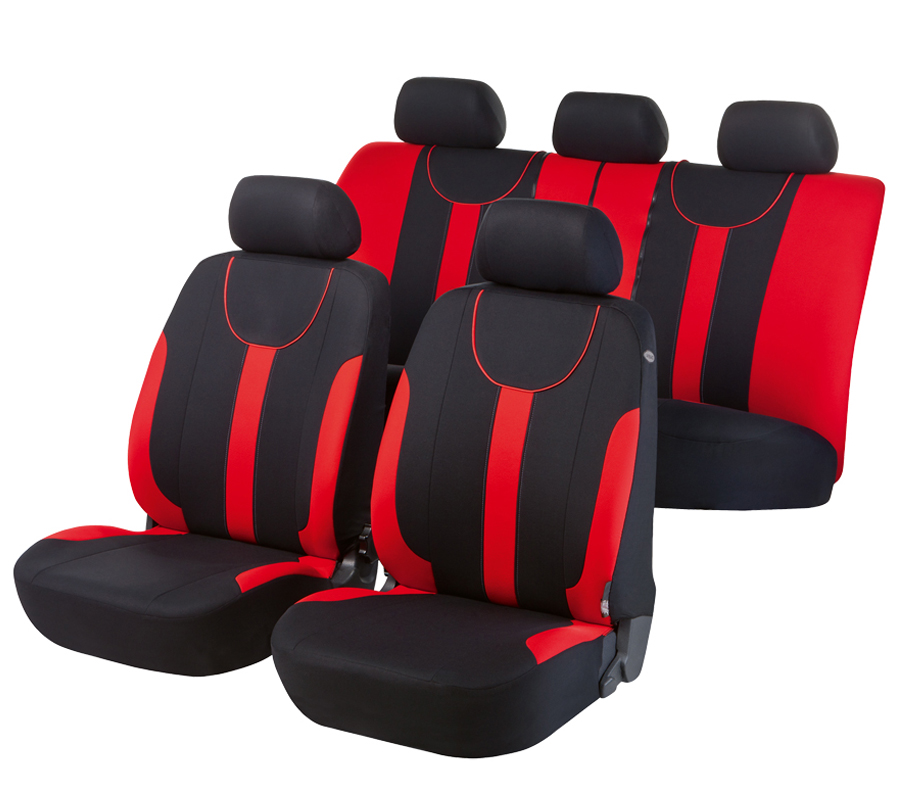 Autopoťahy Walser Dorset Premium čierna/červená