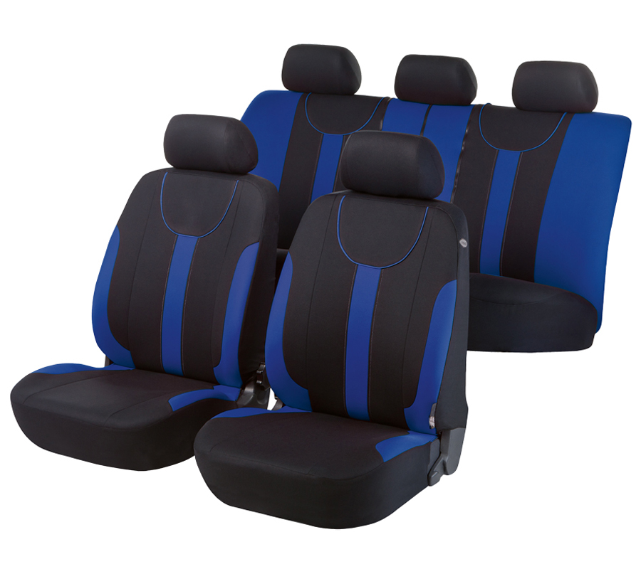Autopoťahy Walser Dorset Premium čierna/modrá