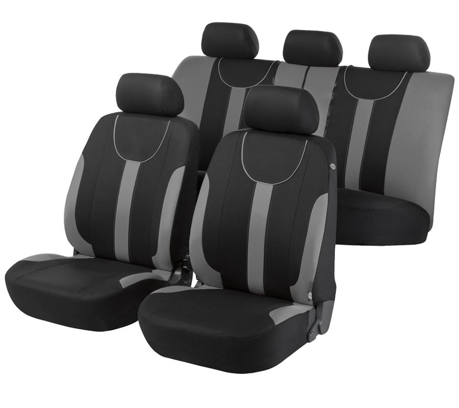 Autopoťahy Walser Dorset Premium čierna/šedá