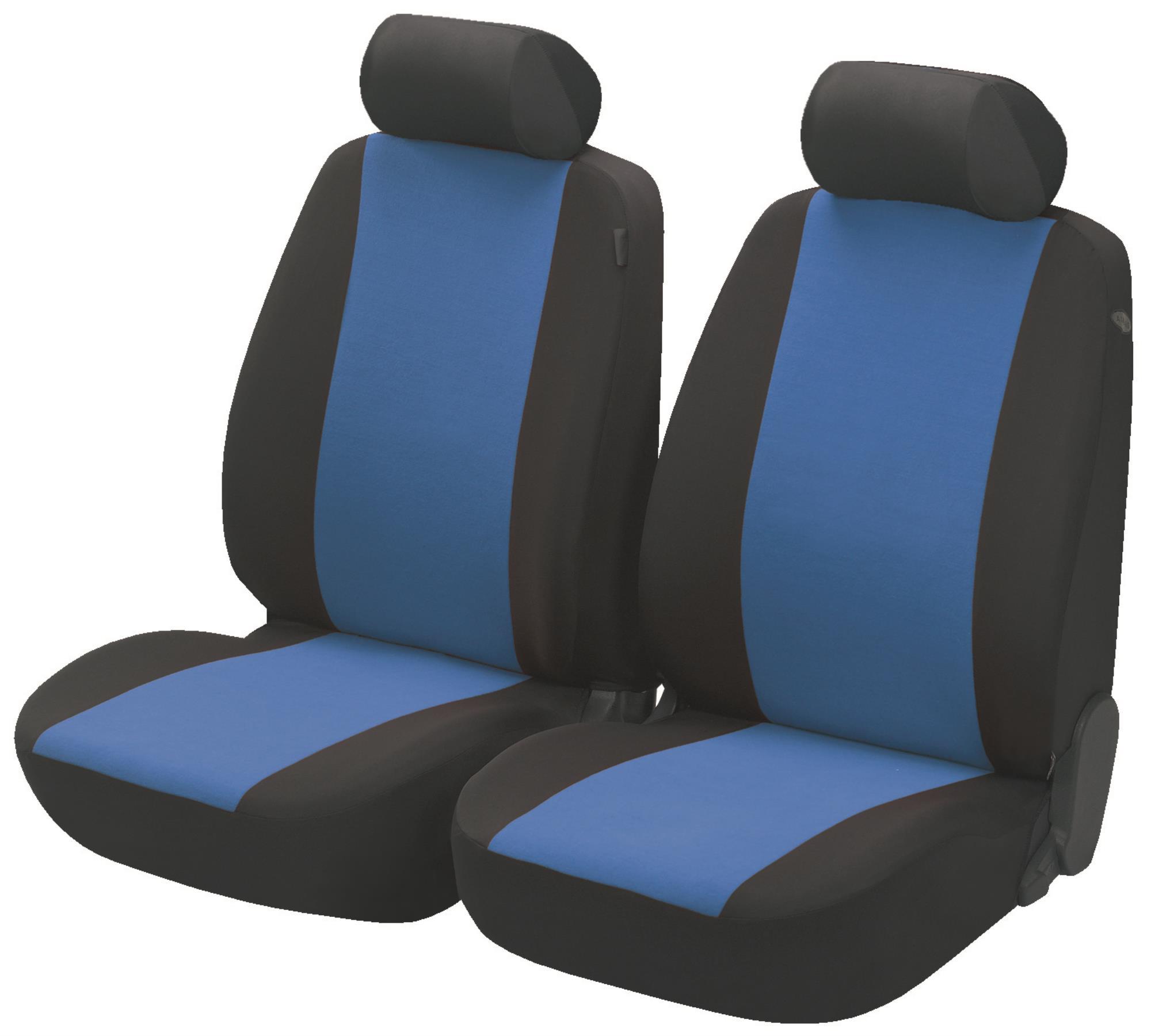 Predné autopoťahy Walser Flash čierna/modrá